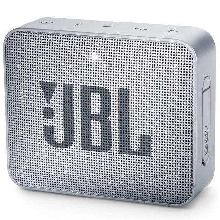 JBL GO 2 Portable Bluetooth Waterproof Speaker, Grey, 4.3 x 4.5 x 1.5 JBLGO2GRY - skroutz.com.cy