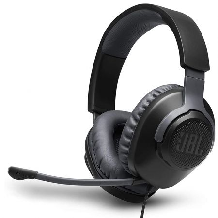 JBL Quantum 100, Over-Ear Wired Gaming Headset (Black) JBLQUANTUM100BLK