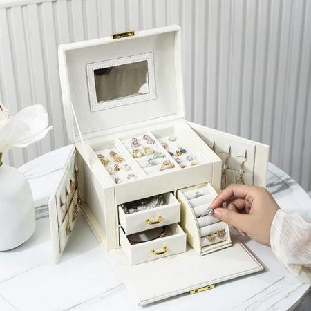 Κοσμηματοθήκη - Μπιζουτιέρα - Άσπρο - Jewelry Box Organizer - White