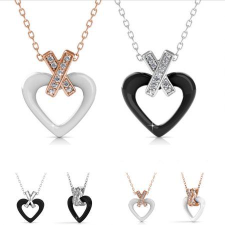 Κεραμικό Κολιέ-Καρδιά της Her Jewellery