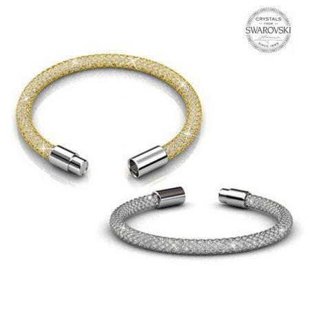 Βραχιόλι Her Jewellery Mesh Bracelet με Swarovski Elements