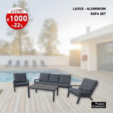 LAXUS - ALUMINIUM SOFA SET - skroutz.com.cy