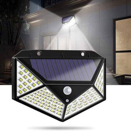 Ηλιακό Επιτοίχιο Φωτιστικό με Ανιχνευτή Κίνησης 100 LED -55467