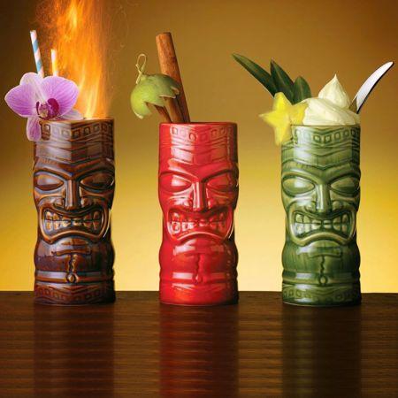 Σετ 3 Ποτήρια Κοκτέιλ/Ποτού Libbey Ceramic Tiki Mug Tumbler 59 cl - skroutz.com.cy