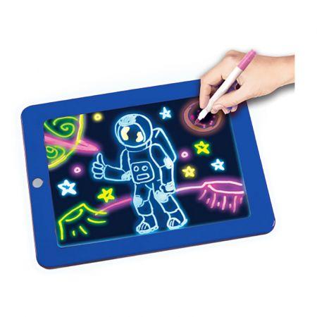 Μαγικός Φωτεινός Πίνακας Ζωγραφικής Χρώματος Μπλε GEM BN2156 - skroutz.com.cy