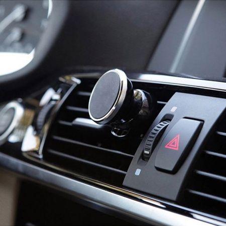 Βάση Κινητού Αυτοκινήτου Μαγνητική Βάση Κινητού Μαύρο/Ασημί με Μαγνήτη - skroutz.com.cy