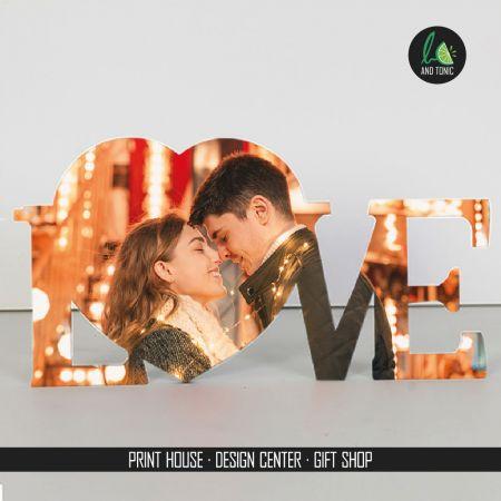 Ξύλινο καδράκι 'LOVE'