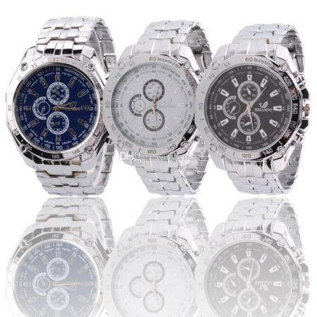 wrist watch - orlando mens fashion stainless steel luxury sport watch - skroutz.com.cy