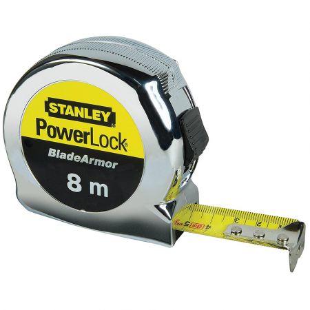 STANLEY ΜΕΤΡΟ 8m MICRO POWERLOCK BLADE ARMOR 0-33-527 - skroutz.com.cy