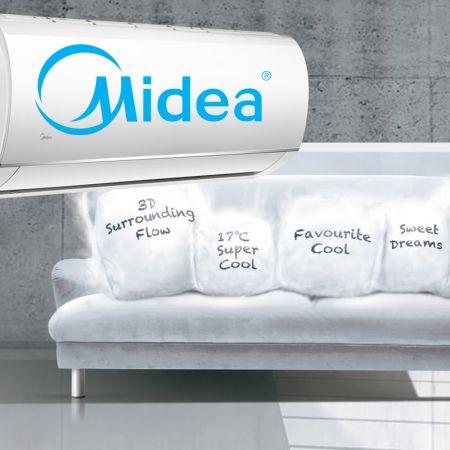 Κλιματιστικό inverter Midea Blanc Inverter με τεχνολογία εξοικονόμησης ενέργειας iECO! - skroutz.com.cy