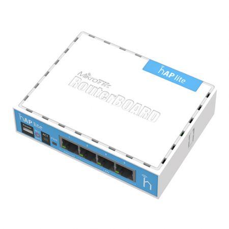 MikroTik RB941-2nD, hAP lite classic, 32MB RAM, 4xLAN, 2.4GHz, RouterOS L4