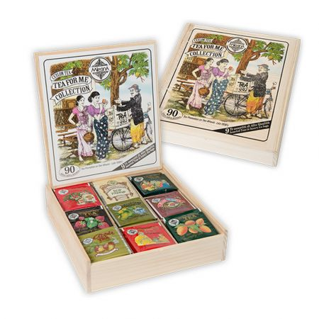Ξύλινο κιβώτιο συλλογή Mlesna Teas με 90 Φάκελα Τσάι - Tea for me collection 90 filters