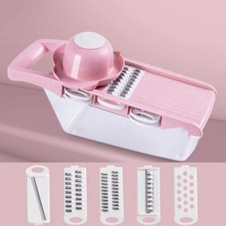 Πολυλειτουργικός Τεμαχιστής Κουζίνας - Ροζ - Multi-Functional Kitchen Slicer - Pink