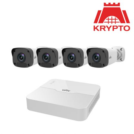 Σύστημα με 4 Κάμερες Ασφάλειας - Uniview NVR KIT/301 4 Channel NVR With 4 X 2MP Bullet Cameras **FREE 2TB HDD** - skroutz.com.cy
