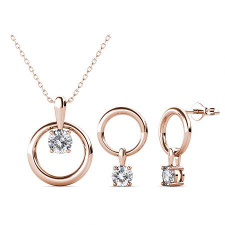 Σετ Κολιέ & Σκουλαρίκια Octavia της Her Jewellery