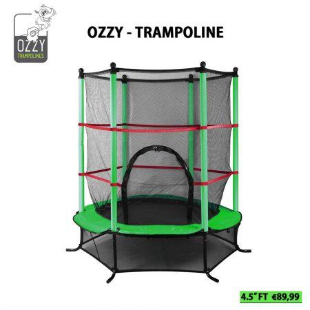 Τραμπολίνο Ozzy για Παιδιά με Δίχτυ Ασφαλείας - 4.5 Feet - skroutz.com.cy