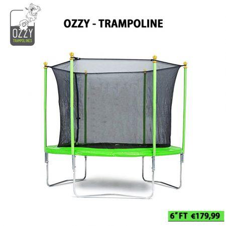 Τραμπολίνο Ozzy για Παιδιά με Δίχτυ Ασφαλείας - 6 Feet - skroutz.com.cy