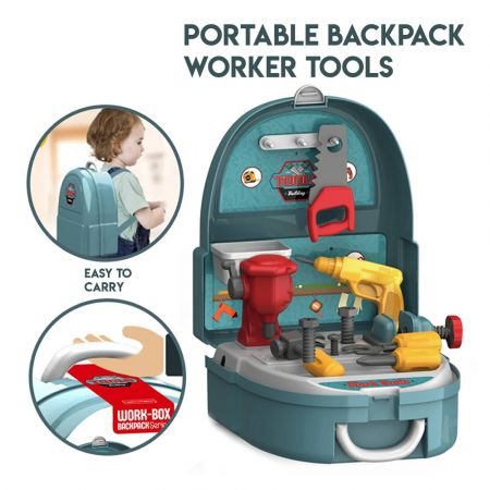 Tools backpack set 134952 - 1148159 perfect shop Work-Box Backpack Series Pretend Play for kids - skroutz.com.cy