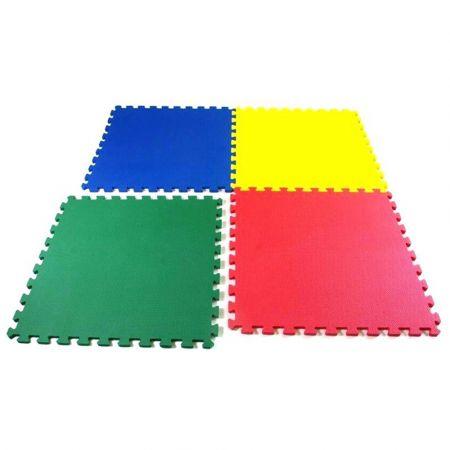 Πολλαπλής χρήσης Puzzle Χαλάκι Δαπέδου 4 Τεμ - Fitness Flooring Mats 60cm X 60 cm X 1.2 mm (2101KS) - 1125225