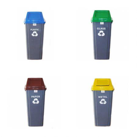 Πλαστικοί κάδοι ανακύκλωσης απορριμμάτων 90 λίτρα - Plastic dustbin recycles bins 90 Littre - skroutz.com.cy