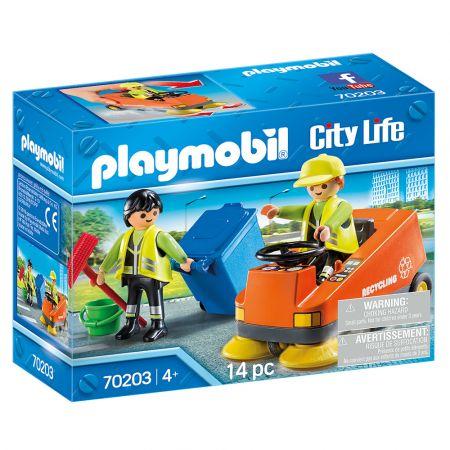Playmobil 70203 Σάρωθρο Οδών Και Οδοκαθαριστές