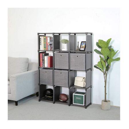 Πολυμορφική Βιβλιοθήκη με 12 Κύβους Αποθήκευσης και 4 Κουτιά 105 x 30 x 140 cm Songmics LSN34BK - Skroutz.com.cy