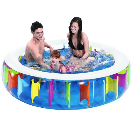 Giant Rainbow Pool - transparent children´s pool with rainbow design on inside 190 x 50cm - 7704099 - skroutz.com.cy