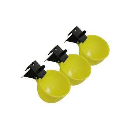 Σετ Αυτόματες Ποτίστρες Πουλιών - 5 Τεμάχια - Κίτρινο