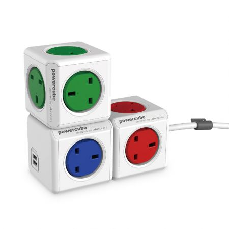 powercube extended 1.5m extension plug & cable - skroutz.com.cy