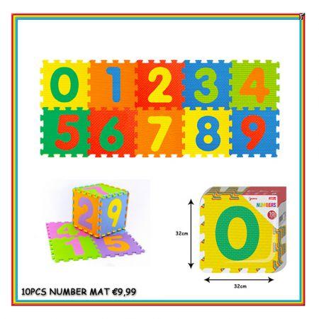 Puzzle mat numbers 10pcs 1125224 - skroutz.com.cy