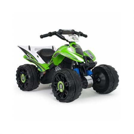 Injusa - Quad Kawasaki ATV, Stable and Resistant 12 V Battery with Rubber Bands in the Wheels - skroutz.com.cy