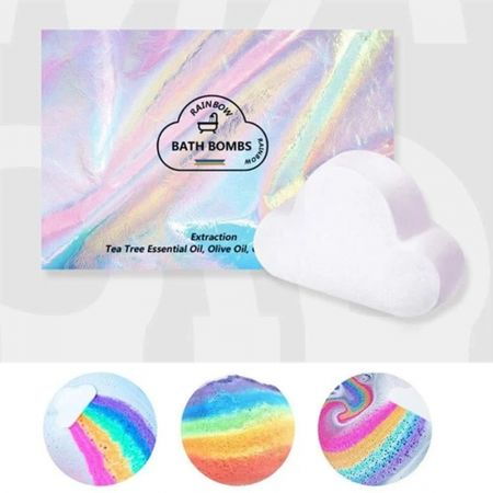 Rainbow Μπόμπα Μπάνιου 180γρ - Rainbow Cloud Bath Bomb 180g