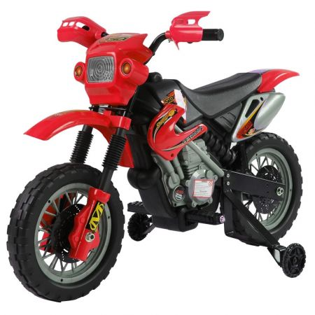 Kids Beginner Dirt Bike Ride on Battery Powered YJ137 - Red - skroutz.com.cy