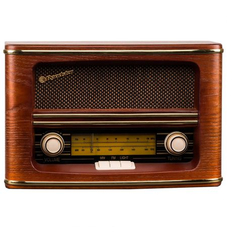 Roadstar Vintage Style HRA-1500/N Home FM/MW Wooden Radio