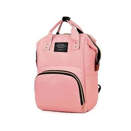 Σακίδιο Πλάτης Backpack Τσάντα μαμάς Αλλαξιέρα 3 σε 1 χωρητικότητας 30ltr με μέγιστο βάρος 15kg, σε Ροζ χρώμα, 51x36 cm 00008911 - skroutz.com.cy