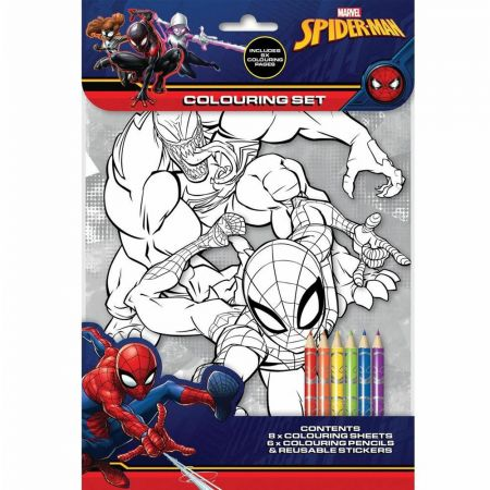 Spiderman Colouring Set AN-SPCST3