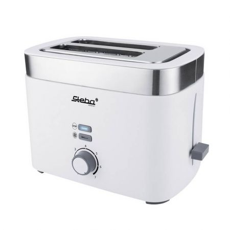 Steba Toaster TO 10 Bianco Double Slit Toaster for 2 Slices