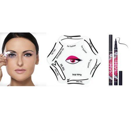 Eyeliner Stencil Kit για  Smokey και Cat Eyes Look