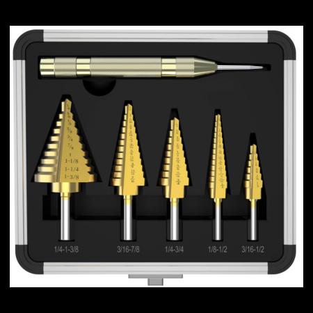 Κλιμακωτές Φρέζες - Step Drill Σετ 6 Τεμαχίων - KAO-TM0709