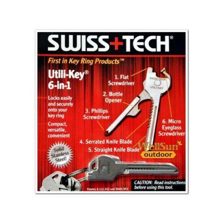 Πολυεργαλείο Swiss Tech Utili-Key 6 in 1 - skroutz.com.cy