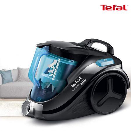 Tefal Compact Cyclonic Vacuum Cleaner, Blue - TW3731HA - skroutz.com.cy