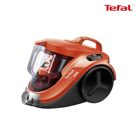 Tefal TW3724HA Cyclone Vacuum Cleaner with 2.6 Feet Cable and 1.5-L Container for Easy and Continuous Vacuuming - Red