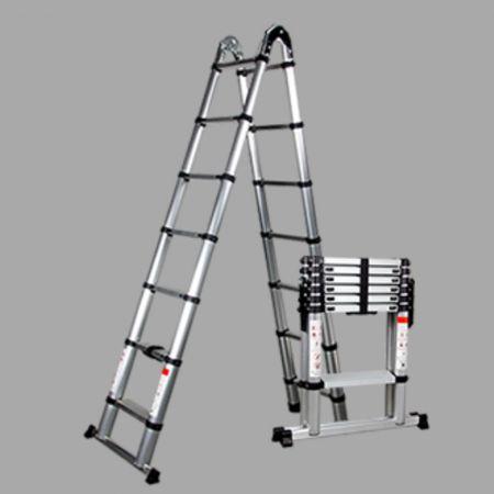 Τηλεσκοπική Σκάλα Αλουμινίου 8 Σκαλιών - skroutz.com.cy
