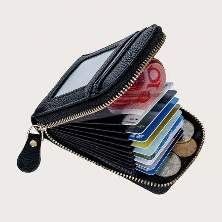 Πρακτικό Unisex Πορτοφόλι Καρτών και Χρημάτων με Φερμουάρ - skroutz.com.cy