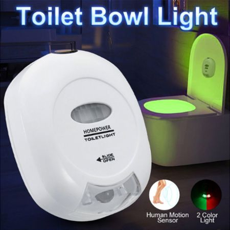 LED Toilet Lamp 2 Colors Lamp Toilet Bowl Night Light LED Motion Activated Seat Sensor Light Bathroom Seat Lighting - skroutz.com.cy