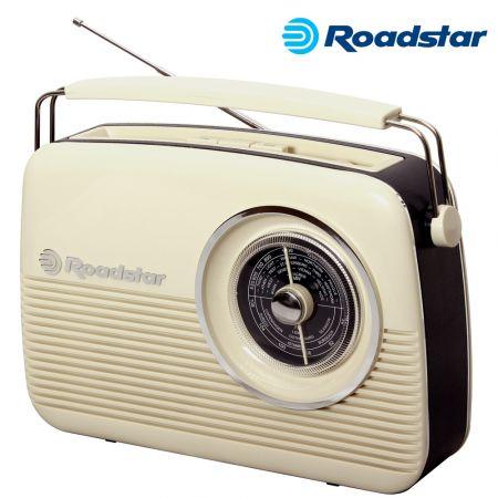 Φορητό Ραδιόφωνο Vintage Style TRA-1957N CR - Cream - skroutz.com.cy
