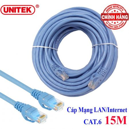 Καλώδιο δικτύου ethernet cat6 15 μέτρα - Network cable cat 6 unitek Y-C814ABL 15m