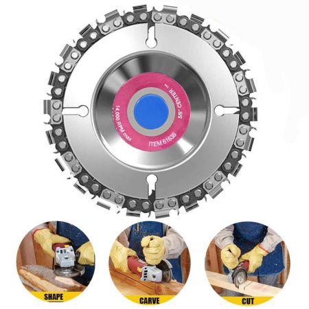 Δίσκος Κοπής Ξύλου Με Αλυσίδα Αλυσοπρίονου Για Τροχό Wood Carving Disc 4 Inch 22 Teeth Angle Grinder Chain Disc Saw Blade for 100 115 - skroutz.com.cy