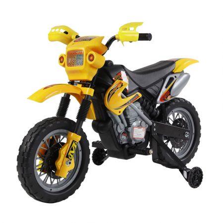 Kids Beginner Dirt Bike Ride on Battery Powered YJ137 - Yellow - skroutz.com.cy