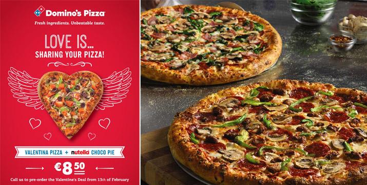 Domino's Pizza - Φέτος γιορτάζουμε με Αγα...πίτσα και ένα Valentine's Deal πειρασμό!